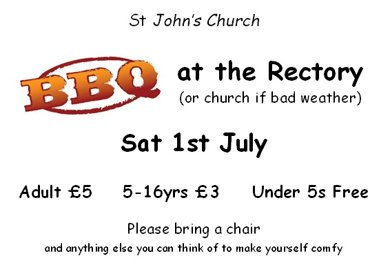 Church BBQ at the Rectory - 1 July 2017 at 4pm
