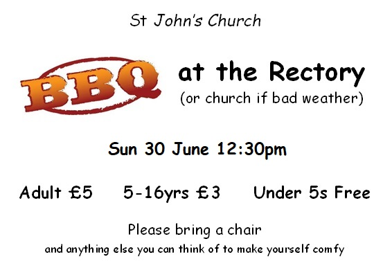 Church BBQ at the Rectory - 30 June 2019 at 12:30pm